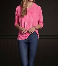 Hollister Pink L/S Hooded Shirt Women's Medium M NEW Belleflower Long Sleeve