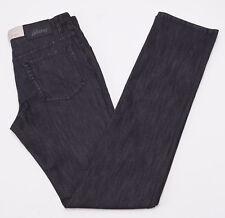 NWT $650 BRIONI 'Livigno' Charcoal Black Denim Jeans 31 W Slim Straight-leg Cut