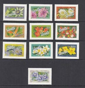Vanuatu-SC-890-907-complet-fleurs-question-domestique-et-international-Neuf-sans-charniere