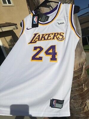 Kobe Bryant New Nike #24 youth kids Size Large Lakers White Jersey With Tags   eBay