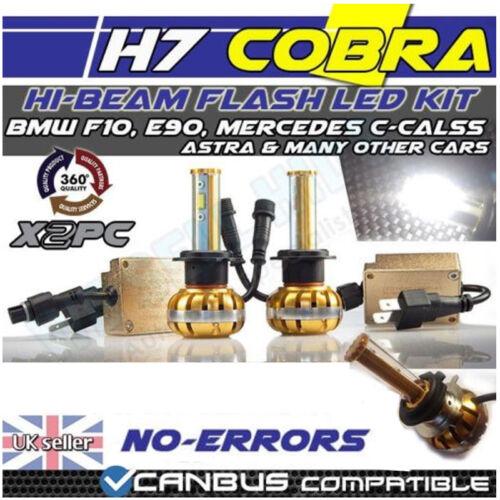 H7 COBRA COB LED KIT SPECIFIC FOR E90 LCI 3000LM WHITE DIPPED BEAM 2LED 30w