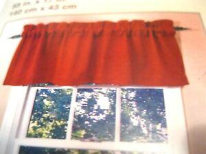 Abby Lane Designables Window Valance 56 Inch Panel Country Brick Red Nip Ebay