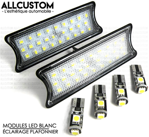 AMPOULES-LED-ECLAIGAGE-BLANC-PLAFONNIER-pour-BMW-E87-SERIE-1-2004-10-118-120-123
