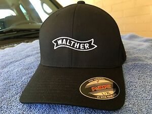 26c36bd4 Walther Arms Logo Embroidered Flexfit Ball Cap Hat Black Olive Navy ...