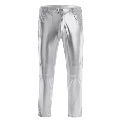 pantaloni eco in pelle Pantalone uomo slim pantaloni casual Legging fit pantaloni casual fresco avnq4Ax