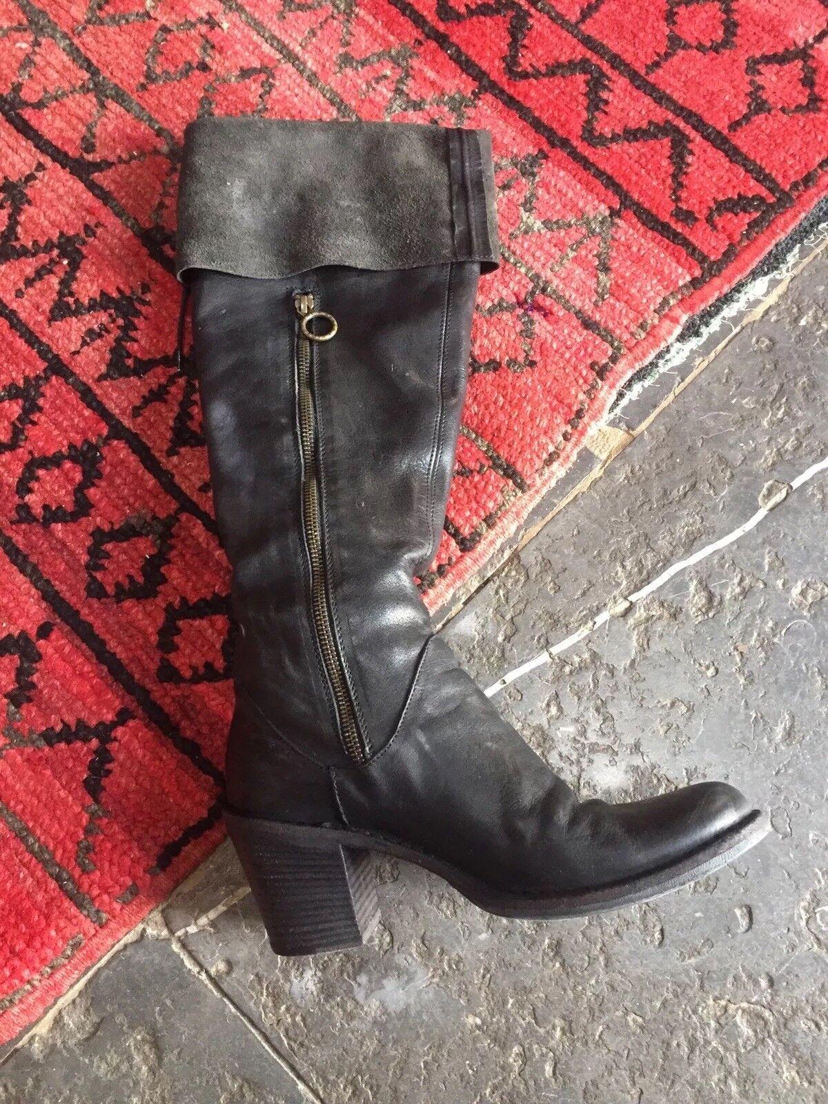 Stylish Black Fiorentini Baker boots