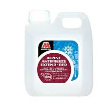 Millers Oils Red Alpine Anti Freeze Summer / Long Life Coolant In 5 Litre