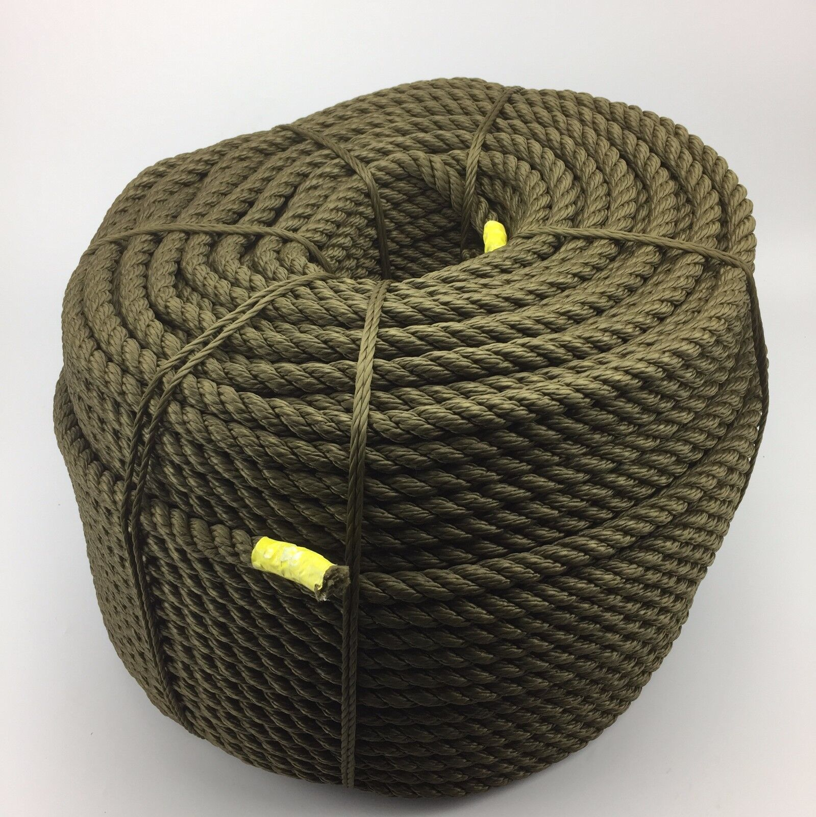 50mts x 8mm Olive Drab 3 Strand polyester, military, boats, fenders lines