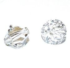 SCB711f CRYSTAL CLEAR 10mm Faceted Xilion Bicone Swarovski Crystal Beads 2/pkg
