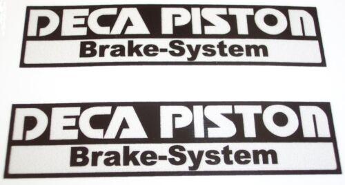 DECA PISTON Brake System motorcycle sticker pair panel swingarm printed vinyl