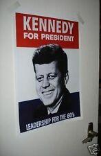 John F. Kennedy campagna Presidente PORTA POSTER JFK anni'60