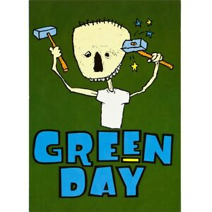 Green-Day-Stars-Postcard