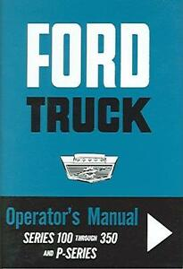 ford truck owners manual   ebay