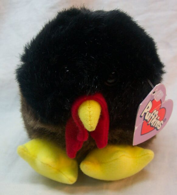 Swibco Puffkins 4 Strut The Turkey Plush Bean Bag Bird Thanksgiving