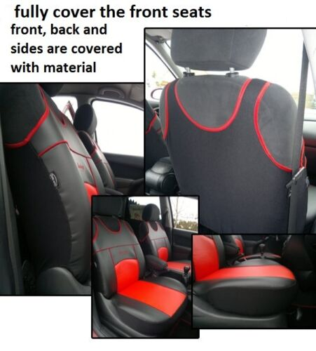 HONDA CR-V MK3 2006-2012 FRONT SEAT COVERS VESTS T-SHIRTS ECO LEATHER