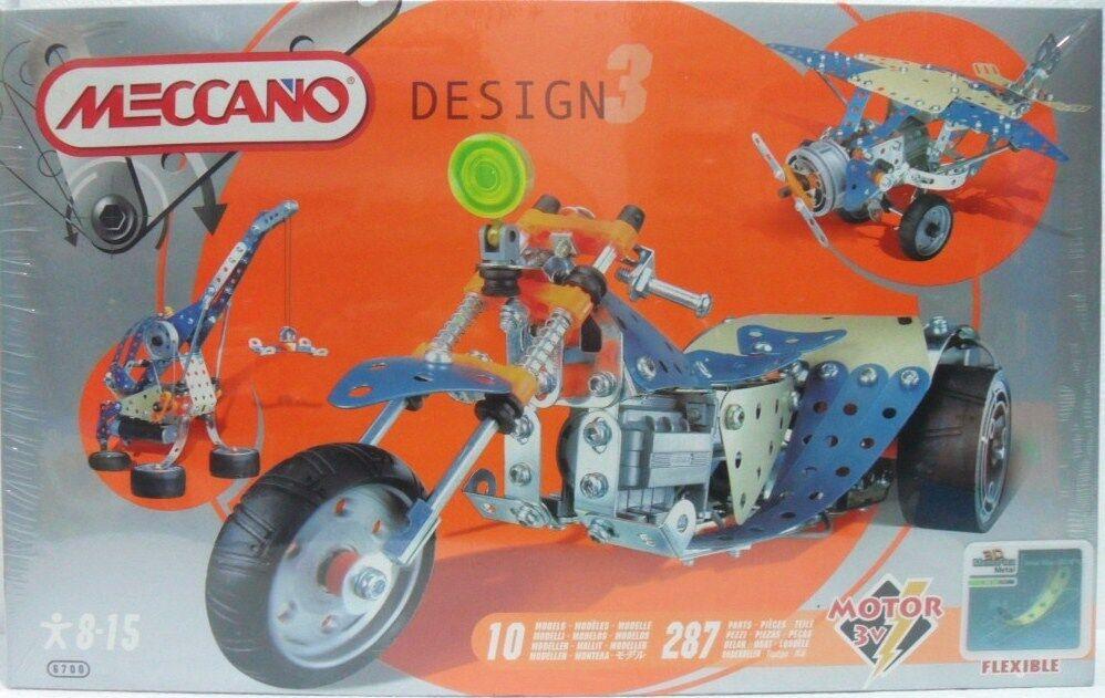 MECCANO DESIGN 3 cod. 84 6700 per imparare a costruire fino a 10 diversi modelli