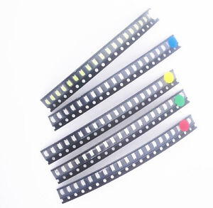 50-100-PCS-1206-SMD-SMT-LED-Red-Green-Blue-Yellow-White-Light-Super-Bright-LED
