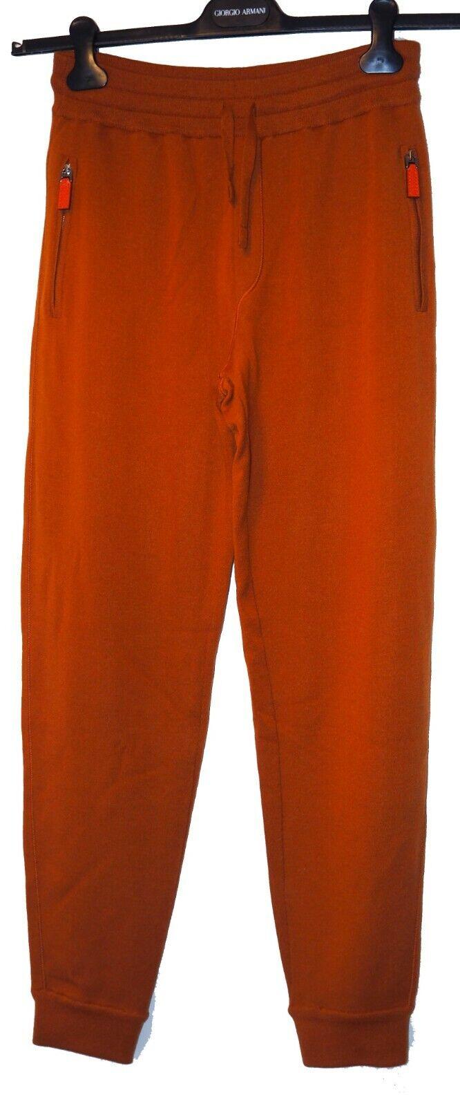 Dolce & Gabbana Burnt Orange Pure Cashmere Joggers Pants Trousers Size S