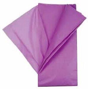 Expressif 10 Feuilles De Soie Papier Mousseline 50 X 75 Violet Neuf Bonne Conservation De La Chaleur
