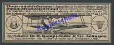 orig. Reklame Flugzeugbau Luftwaffe Fliegertruppe Heer Kampschulte Solingen 1918