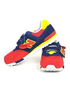 Details about New Balance 574 Boys Classic Velcro Casual Shoes Sneakers Red,Blue,Yellow Size 6