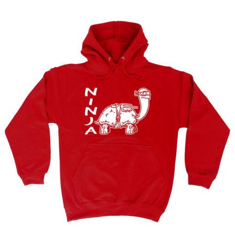 Ninja Tortoise HOODIE hoody Cute Joke Clever Top Funny Present birthday gift