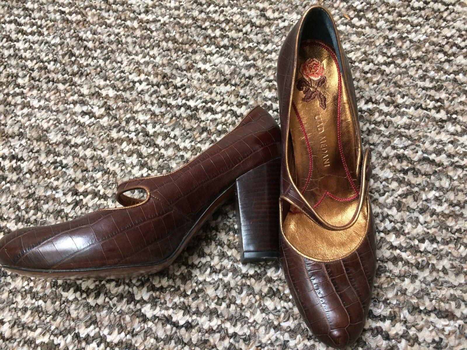 Uad Medani Mock Croc Schuhes 38 BNWOT Vintage style