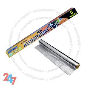 CHEAP ALUMINIUM KITCHEN / COOKING / CATERING TIN FOIL SANDWICH WRAP 450mm X 5m