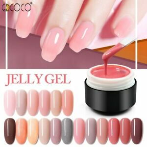 18 Jelly Gel Nude Glitter Transparent Clear Soak off UV