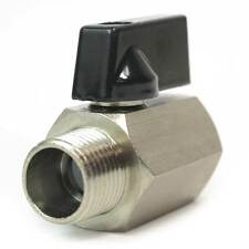 """Brass Ball Valve Pipe Thread w/Lever 1/2"""" FPT x 1/2"""" MPT - VB880"""