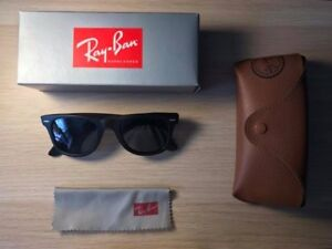 9a780b58d2 Details about Matte Black Ray-Ban Original Wayfarer Asian Fit RB 2140-F  901-S Sunglasses