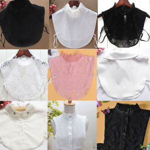 Women-Detachable-Lapel-Shirt-Fake-False-Collar-Choker-Lace-Removable-Necklace