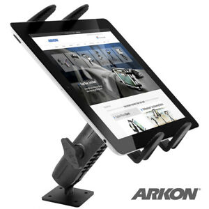 Extra Heavy Duty Metal Drill Base Mount w/Adjustable Tablet Holder for Car/Truck