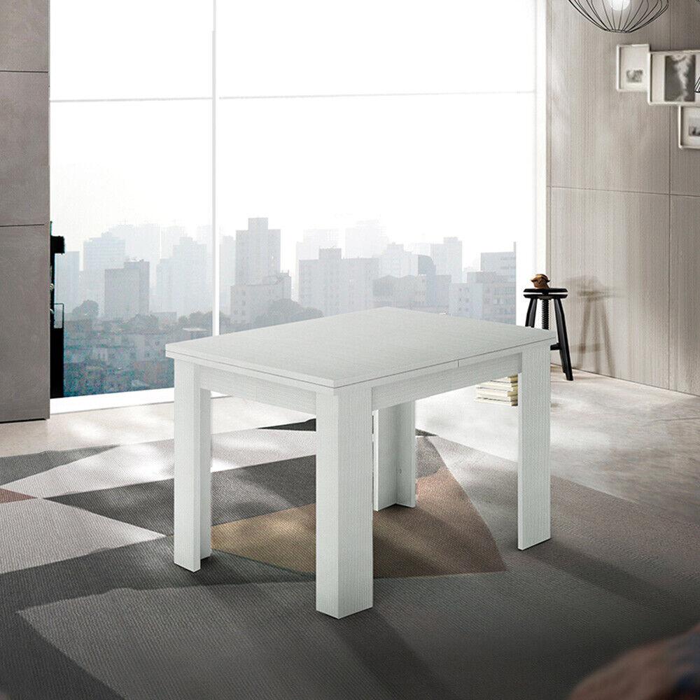 Mesa comedor extensible consola libro diseño madera blanca Jesi Liber Wood