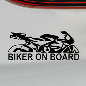 Universal-Biker-On-Board-PET-Reflective-Car-Decal-Motorcycle-Sticker-Personality