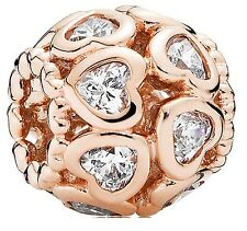 Pandora rose gold love bonds charm (genuine, ALE R) 781250CZ
