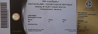 TICKET WM Qu Tschechien Czech Republic in Hamburg 8.10.2016 Deutschland