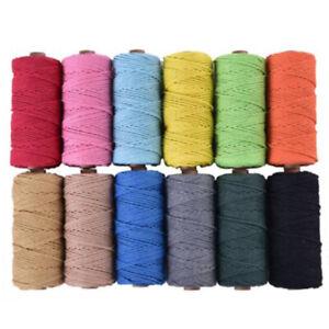 3mm-Algodon-Natural-Rope-Cord-Cuerda-Trenzado-Beige-Craft-Macrame-Artisan-Tools