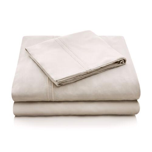 Queen Tencel Woven Sheet Set in Ecru//Biege//Tan by Malouf Fine Linens