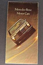 1970 Mercedes-Benz Brochure Folder 280 SL SE 220 D 250 300 SEL 6.3 600 Orig 70