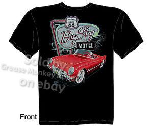 53 54 55 Corvette T Shirt C1 Apparel Route 66 Motel