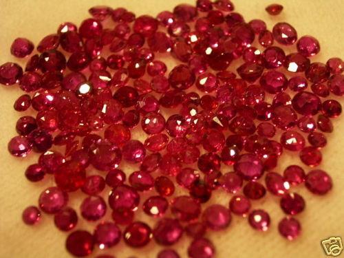 Ruby en el esmerilado con facetas rubin 1 Carat natural rubíes
