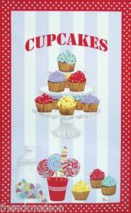 BEAUVILLE-Dish-Towel-CUPCAKES-Lollipop-Sweets-Candies-FREE-FRENCH-CANDY-GIFT