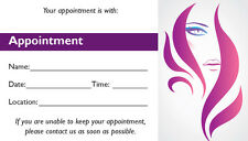 "APPOINTMENT CARDS, BEAUTY, SALON, NAILS, SPAS,  3.5""x2"",  250 Pack"