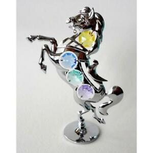 Crystocraft-Horse-Ornament-With-Swarovski-Elements-Gift-Present-Figurine
