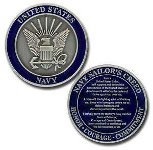 NEW-U-S-Navy-Sailor-039-s-Creed-Challenge-Coin