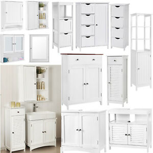 Songmics Bathroom Cabinet Storage Cupboard Wall Mounted Unit Shelves