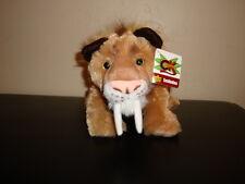 """Wild Republic Cuddlekins Smilodon Sabertooth Tiger Plush Large 12"""" Ice Age Diego"""