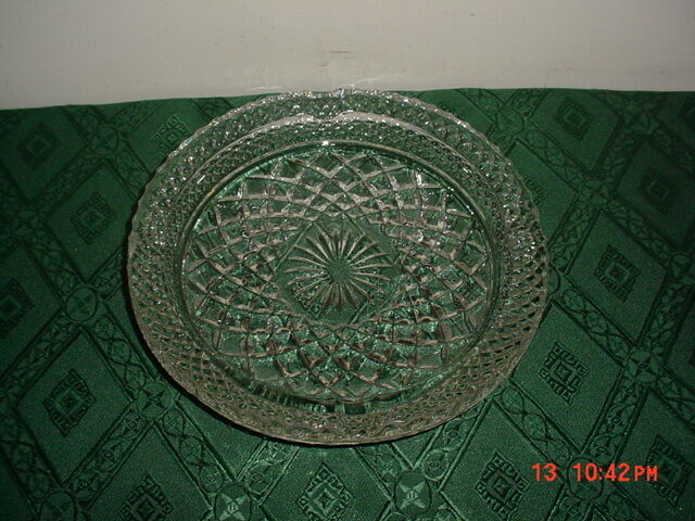 "ANCHOR HOCKING ""WEXFORD"" 8 1/2"" ASHTRAY/VINTAGE GLASSWARE/HEAVY/AS IS/CLEARANCE!"