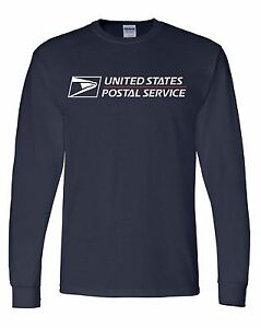 Usps postal long sleeve heavy duty usps logo size large for Usps t shirt shipping